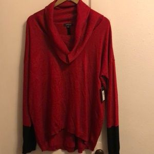 New! Verve America red black sweater L